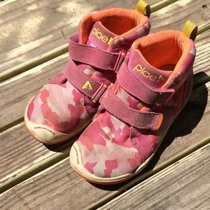 PLAE Pink Camouflage High Top Sneaker 11.5